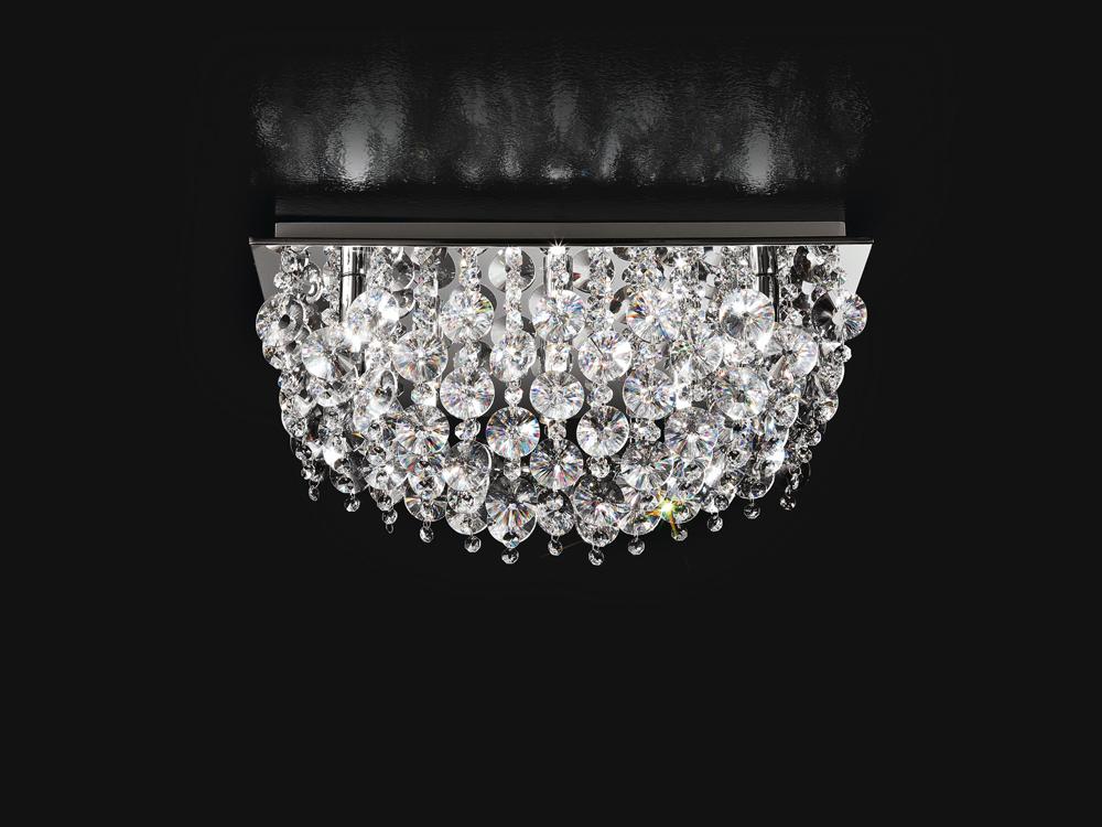 Plafoniere In Cristallo Molato : Plafoniere a fiore plafoniera fiori metallo acrilico