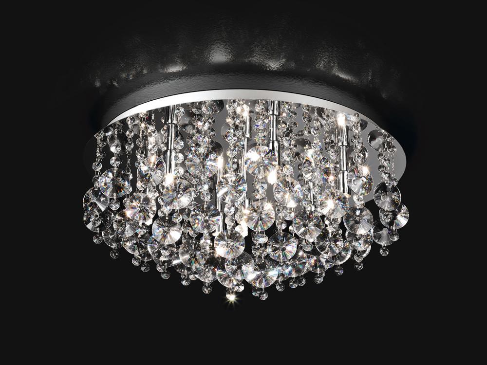 Plafoniere In Cristallo Molato : Plafoniere in cristallo molato plafoniera con sfere vetro
