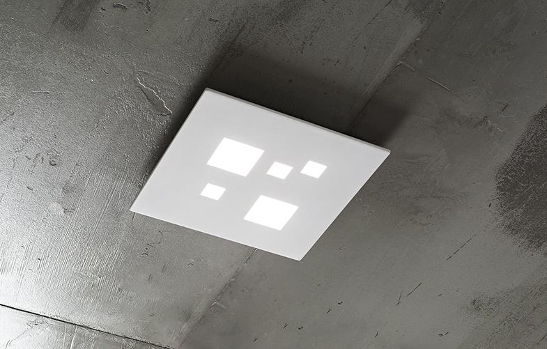 Plafoniere Con Led Integrato : Plafoniera perenz bianca led 6390 b ln laltra luce