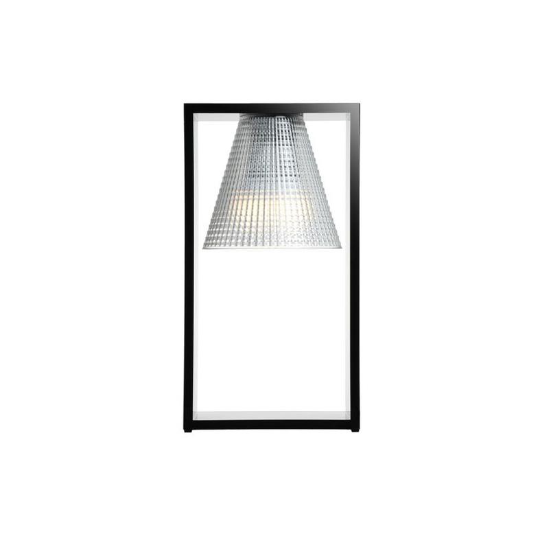 Lampada da Tavolo Kartell Light Air Nera e Cristallo 9135 E6 | L ...
